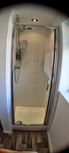 Shower cubicle installation in Ewloe