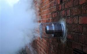 Old boiler flue